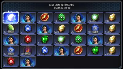 June Sign-in Rewards featuring Wonder Women DoJ