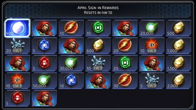 April Sign-in Rewards featuring Poison Ivy