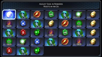 August Sign-in Rewards featuring Livewire