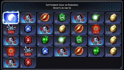 September Sign-in Rewards featuring Livewire