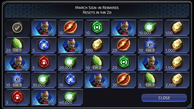 March Sign-in Rewards featuring Siren